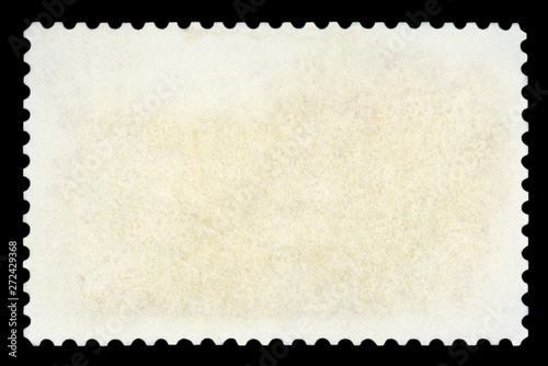 Fotomural  Blank postage stamp - Isolated on Black background