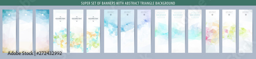 Fotografia Set of abstract vector banner with triangle background