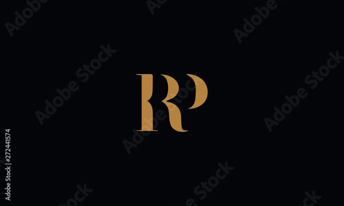 RP logo design template vector illustration Canvas Print