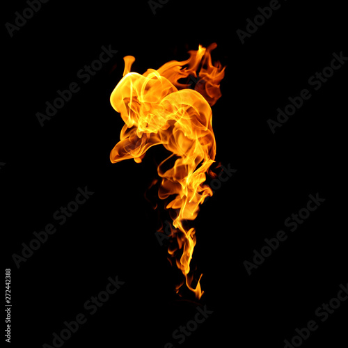 Poster Fire / Flame Fire flames collection isolated on black background