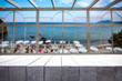 Leinwandbild Motiv Desk of free space and window space