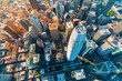 canvas print picture Downtown San Francisco aerial view of skyscrapers