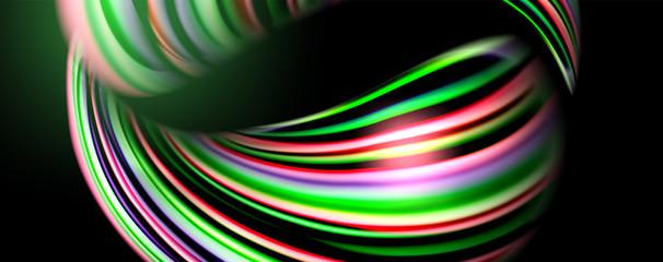 Fluid color waves with ligh...