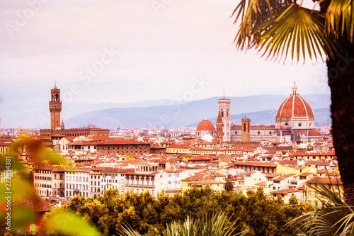 Romantic panoramic view of Florence -Firenze- Tuscany - Italy