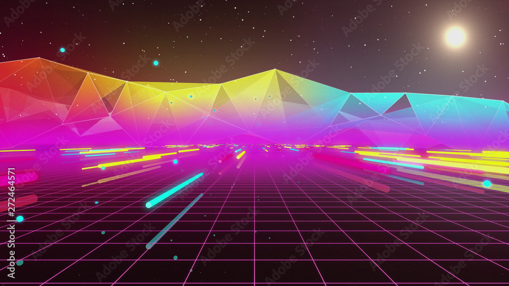 Fototapety, obrazy: 80s Retro Neon Tube