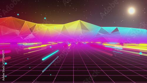 Papel de parede  80s Retro Neon Tube