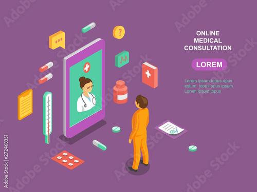 Online medical consultation app Fototapeta