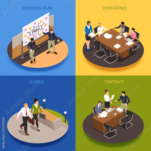 Business People  Concept Icons Set - 272471554