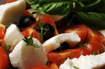 Panel Szklany Do pizzerii Insalata caprese ft8105_7488 Cucina italiana