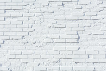 Old Brick Wall Painted White