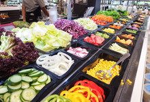 Salad Bar In Supermarket