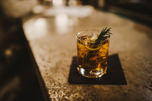 Whisky Cocktail With Rosemary
