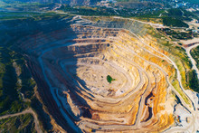 Aerial View Of Opencast Mining...