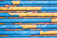 Colorful Corrugated Metal Wall