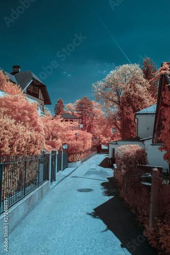 The city Salzburg in spring, shot in Infrared IR Wallpaper Mural