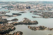 Yachts Dot The Landscape Of Lane Cove River Near The Sydney Harb