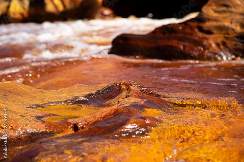 Red water in Rio Tinto, Huelva