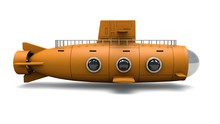 3d Illustration Of Yellow Submarine