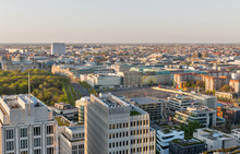 Berlin Evening Aerial Cityscape, Germany.