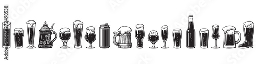 Beer glassware guide Fototapeta