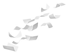 Paper Document Flying Paperwork Business Wind Office
