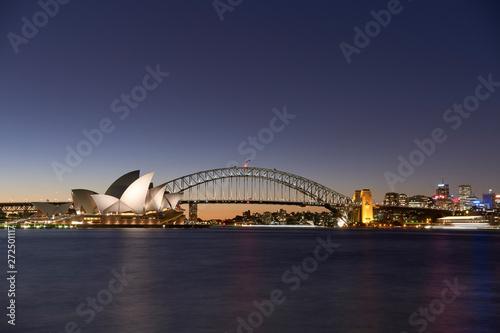 Sydney Harbour At Dusk Wallpaper Mural