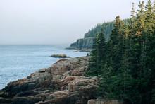 Rugged Maine Coastline On A Su...