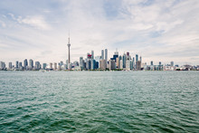 Toronto Skyline And Waterfront Viewed From The Water