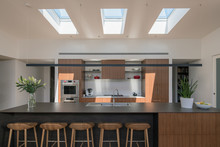 Kitchen With Sunny Skylight Feature