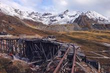 Railroad Tracks At Abandoned M...