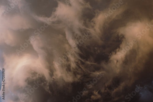 Thunderclouds before the storm. Wallpaper Mural
