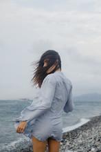 Windy Seaside Portrait