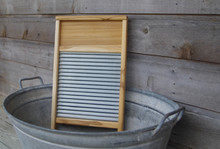 Wood And Galvanized Metal Wash...