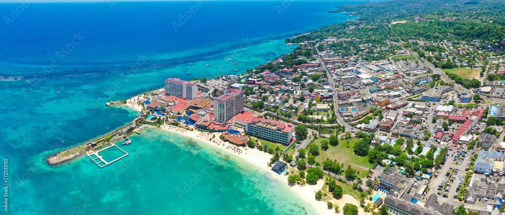 Fototapety, obrazy: Beautiful Aerial Beach View