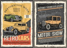 Retro Cars Restoration Garage,...