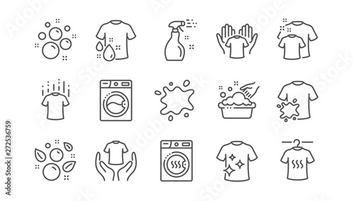 Fototapeta Laundry line icons