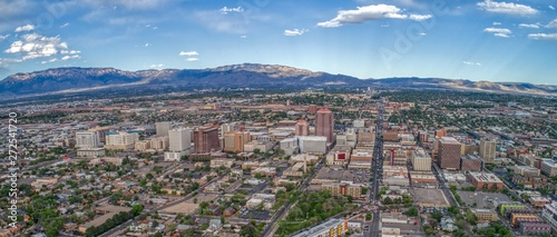 Aerial View of Albuquerque, The biggest City in New Mexico Canvas Print