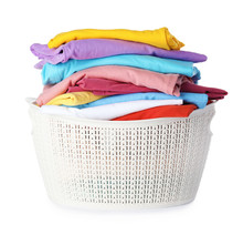 Plastic Laundry Basket With Cl...