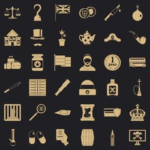 Encroachment Icons Set. Simple Set Of 36 Encroachment Vector Icons For Web For Any Design