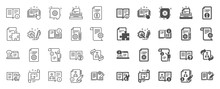 Technical Document Line Icons....