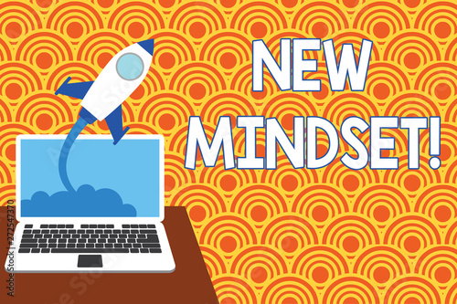 Text sign showing New Mindset  Business photo showcasing mental