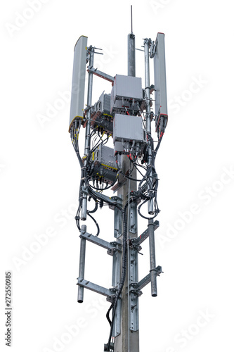 Antenna and Transceiver 5G, 4G isolated on white background have clipping path Fototapete
