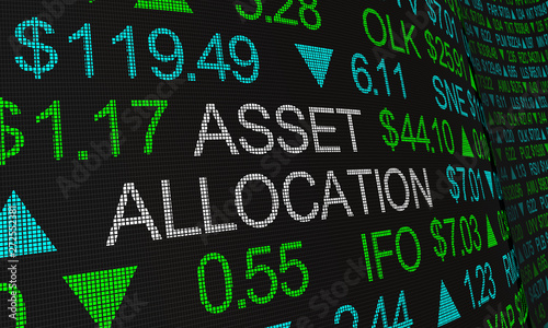 Asset Allocation Portfolio Management Stock Market Investment 3d Illustration Wallpaper Mural