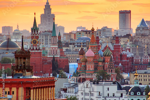 Sunset over Moscow Wallpaper Mural