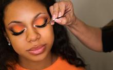 Makeup Artist Sticks False Eye...