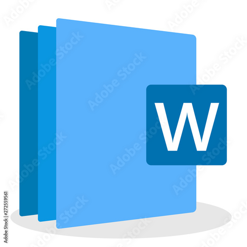 file icon office. digital file format doc docx word Canvas Print