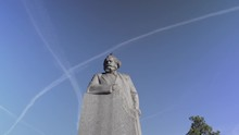 Statue Of Karl Heinrich Marx In Moscow, Russia.