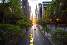 Sunset Over 42nd Street With T...
