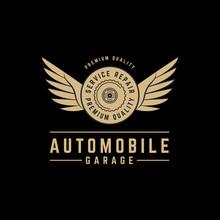 Vector Automobile Wings Logo. ...
