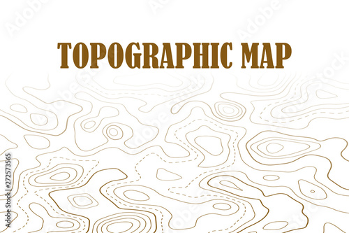 Fototapety, obrazy: Topographic map contour background. Line map with elevation. Geographic World Topography map grid abstract illustration.